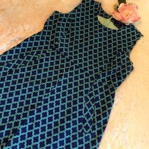 Lands' End Dress Fabulous Colors & Pattern - 12p